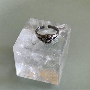 Flower Sterling Silver Toe Ring